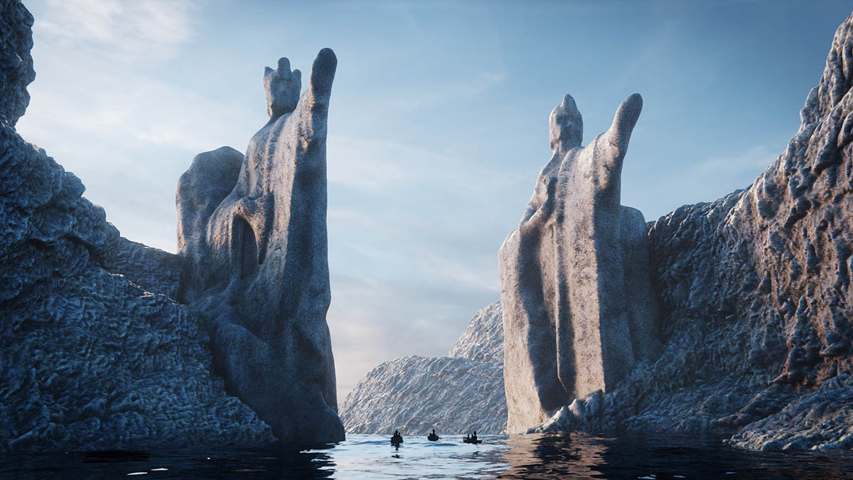"""The Gates of Argonath"" from LOTR"