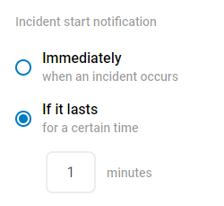 When to notify